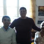 Иван Думиника със семейство Караджови